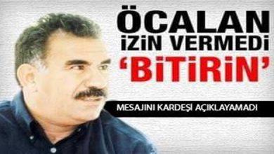 "Photo of Öcalan: ""Açlık Gerevi Bitsin"""